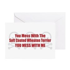 Mess With Wheaten Greeting Cards (Pk of 10)