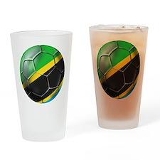 Tanzania Football Drinking Glass