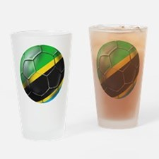 Tanzania Football Drinking Glass