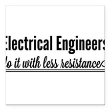 Electrical engineers resistance Square Car Magnet