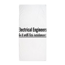 Electrical engineers resistance Beach Towel
