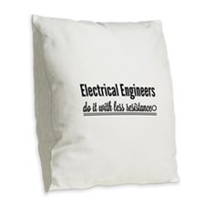 Electrical engineers resistance Burlap Throw Pillo