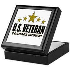 U.S. Veteran Courage Shown Keepsake Box