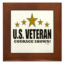 U.S. Veteran Courage Shown Framed Tile