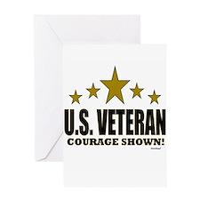 U.S. Veteran Courage Shown Greeting Card