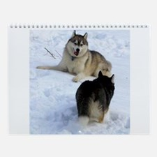 Unique Sled dogs Wall Calendar