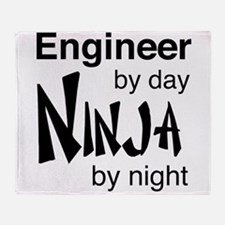 Engineer by day ninja by night Throw Blanket