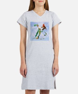 Cute Art deco woman Women's Nightshirt
