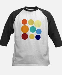 Huge Bright Colored Dots Pattern Baseball Jersey