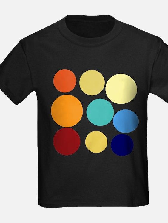 Polka dot t shirts shirts tees custom polka dot clothing for Neon coloured t shirts