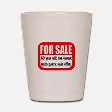 60 Year Old For Sale Shot Glass