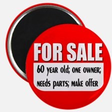 For Sale 60th Birthday Magnet