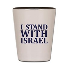 I Stand with Israel - Logo Shot Glass