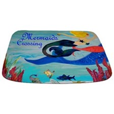 Mermaids Crossing Art Bathmat Rug