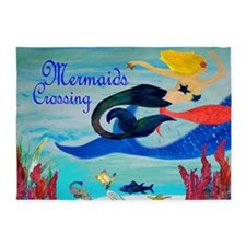 Mermaids Crossing Art Rug 5'x7'area Rug