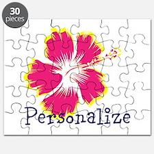 Personalize hibiscus Flower Puzzle