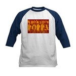Who's Your Poppa Kids Baseball Jersey