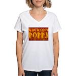 Who's Your Poppa Women's V-Neck T-Shirt