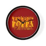 Who's Your Poppa Wall Clock