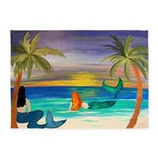 Coastal Mermaids 5'x7'area Rug