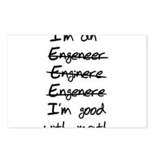 Engineer misspelling Postcards (Package of 8)