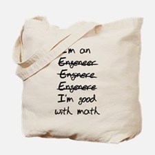 Engineer misspelling Tote Bag