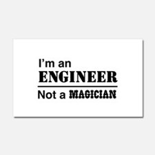 Engineer, not magician Car Magnet 20 x 12