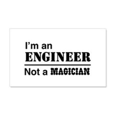 Engineer, not magician Wall Decal