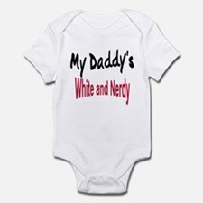 Daddy's White and Nerdy Infant Bodysuit