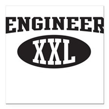 "Engineer XXL Square Car Magnet 3"" x 3"""