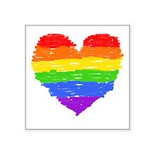 "Cute Rainbow family Square Sticker 3"" x 3"""