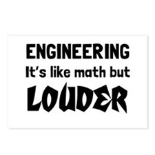 Engineering math but louder Postcards (Package of