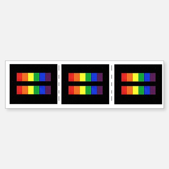 Rainbow Equality Share-A-Car Car Sticker
