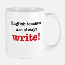 English teachers always write Mugs