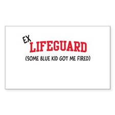 Ex lifeguard blue kid fired Decal