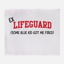Ex lifeguard blue kid fired Throw Blanket