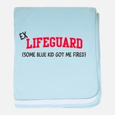 Ex lifeguard blue kid fired baby blanket