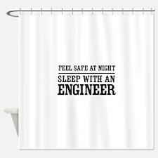 Feel safe sleep engineer Shower Curtain