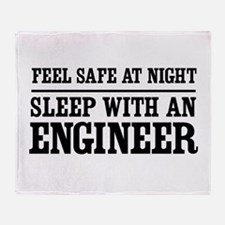 Feel safe sleep engineer Throw Blanket