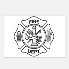 Fire department symbol Postcards (Package of 8)