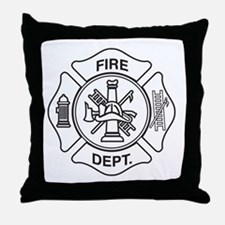 Fire department symbol Throw Pillow