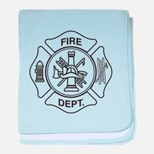 Fire department symbol baby blanket