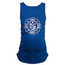 Fire department symbol Maternity Tank Top
