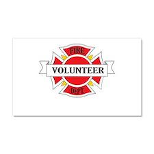 Fire department volunteer Car Magnet 20 x 12