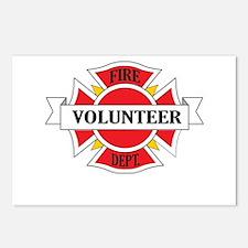 Fire department volunteer Postcards (Package of 8)