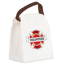 Fire department volunteer Canvas Lunch Bag