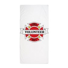 Fire department volunteer Beach Towel