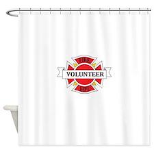 Fire department volunteer Shower Curtain
