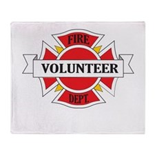 Fire department volunteer Throw Blanket