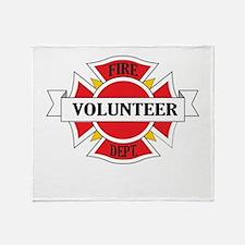 Fire department volunteer Throw Blanket